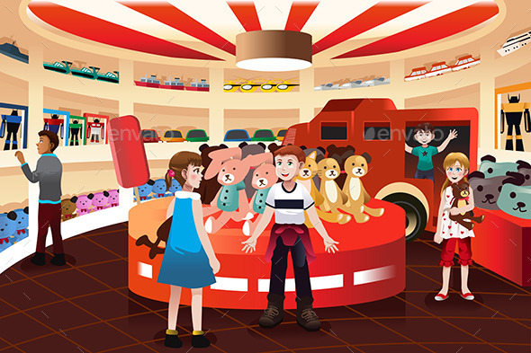 GraphicRiver Kids in a Toy Store 10564333