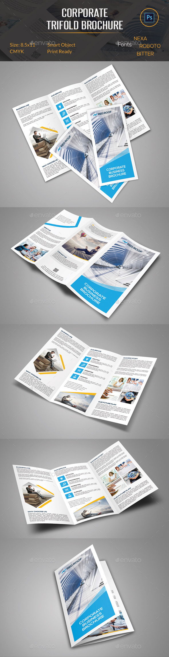 GraphicRiver Corporate Trifold Brochure 10564466