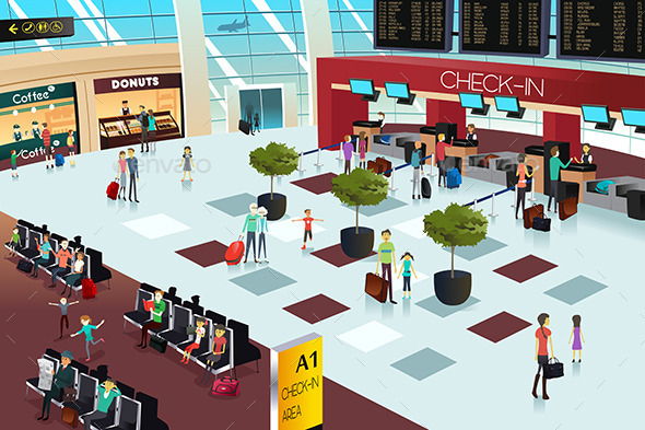 GraphicRiver Inside of an Airport 10564692