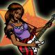 Rock Guitarist Girl - GraphicRiver Item for Sale