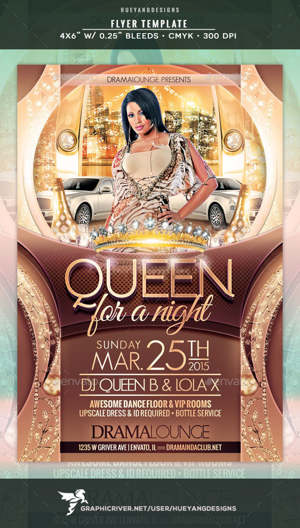 GraphicRiver Queen Flyer 10565386