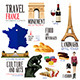 Infographic Elements for Traveling to France - GraphicRiver Item for Sale