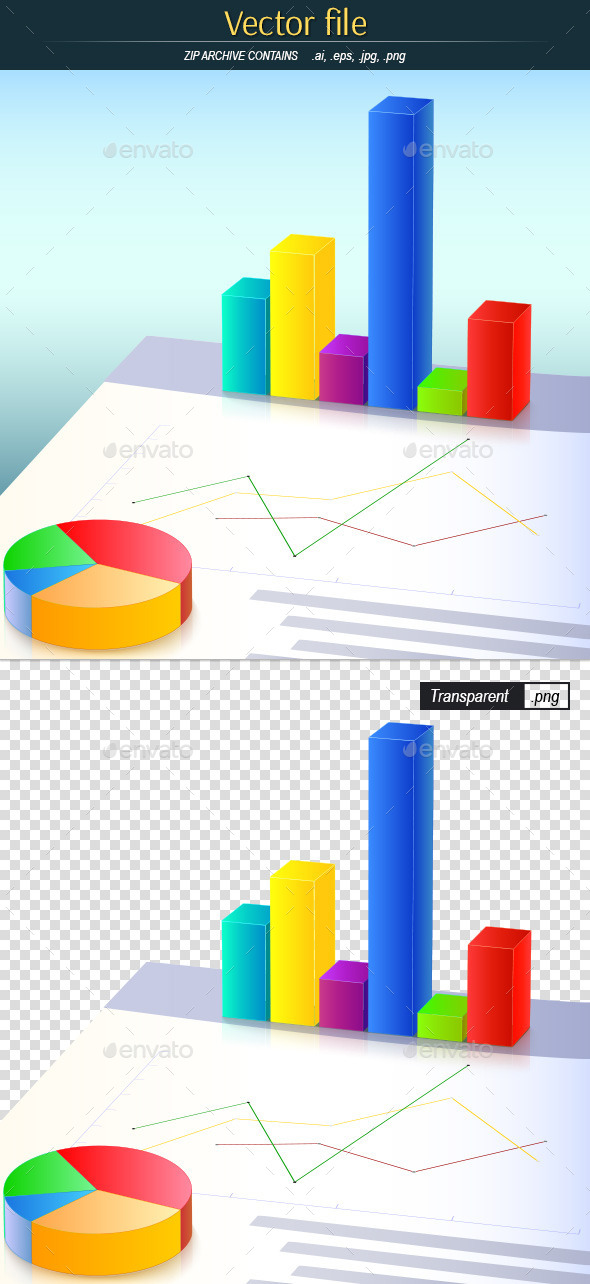 GraphicRiver Colored Business Charts 10565485