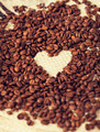coffee beans on the textile background - PhotoDune Item for Sale