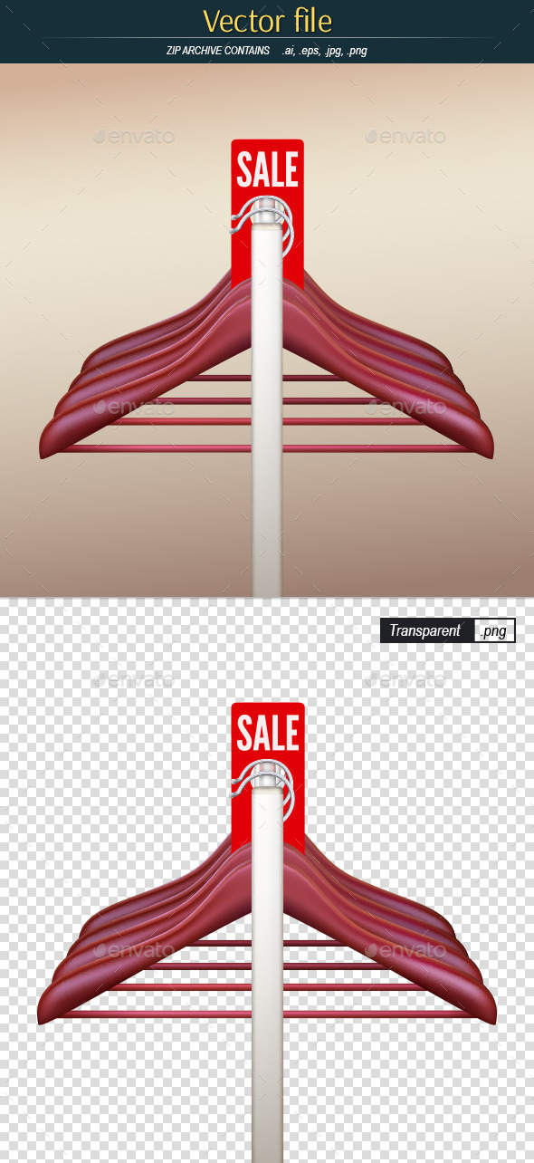 GraphicRiver Hangers on the Rack with Red Label 10565526