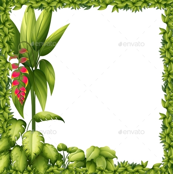 GraphicRiver Green Frame with Flower 10565527