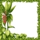 Green Frame with Flower  - GraphicRiver Item for Sale