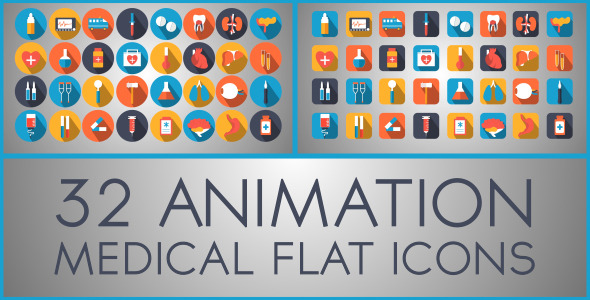 Medical Flat Icon (Infographics)