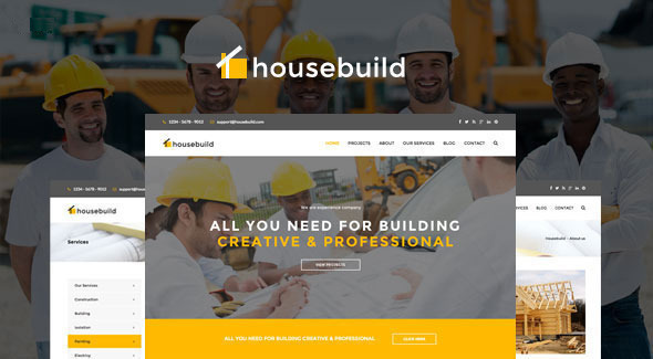 ThemeForest Housebuild WordPress Construction Business Theme 10540961