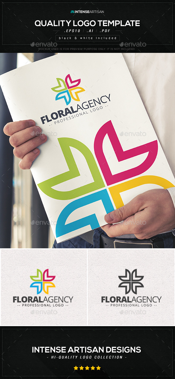 GraphicRiver Floral Agency Logo Template 10566466