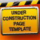 UNDER CONSTRUCTION page template - GraphicRiver Item for Sale