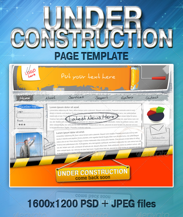 GraphicRiver UNDER CONSTRUCTION page template 131427
