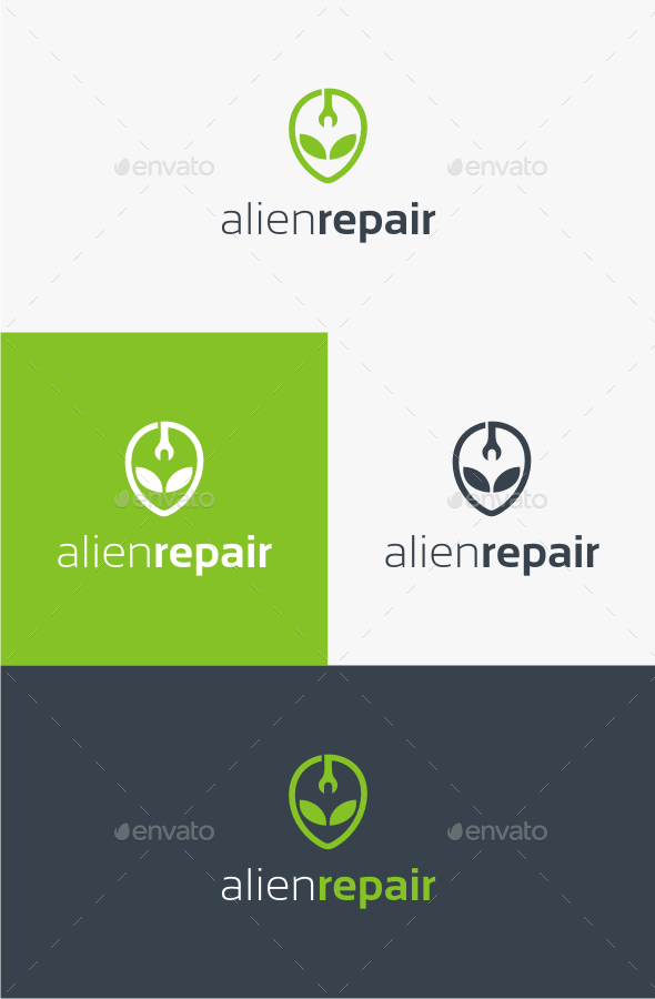 GraphicRiver Alien Repair Logo Template 10514183