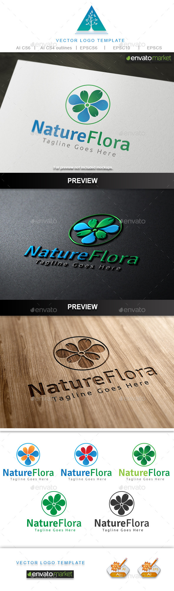 GraphicRiver Nature Flora Logo 10567031