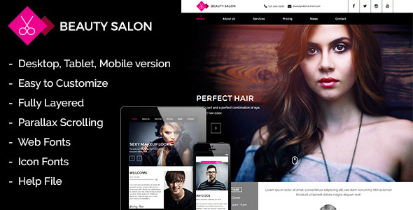 ThemeForest Beauty Salon Muse Template 10567101
