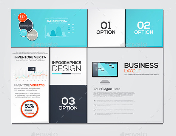 GraphicRiver Modern Design Minimal Infographic Template 10517593
