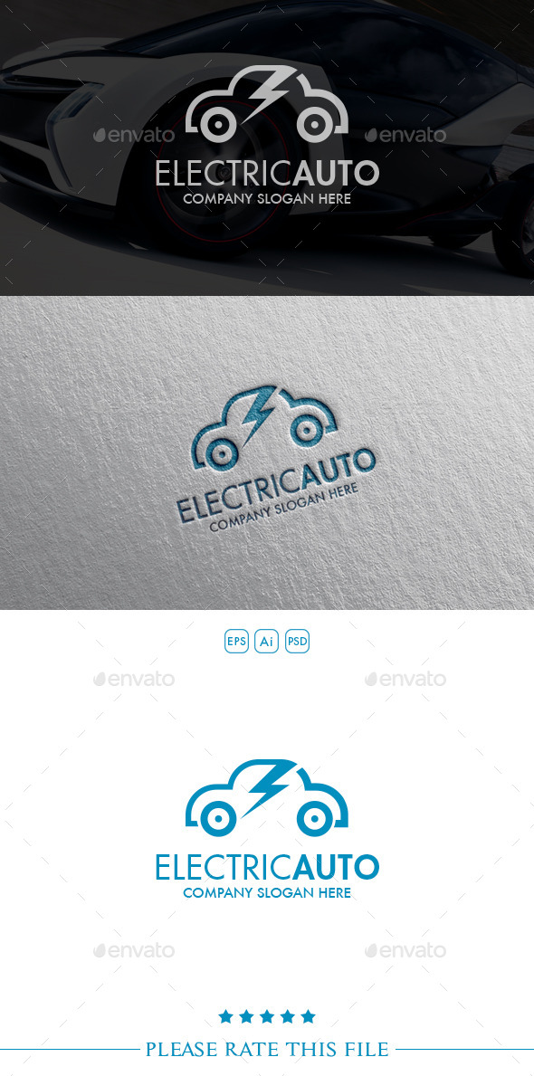 GraphicRiver Electric Car Logo 10550969