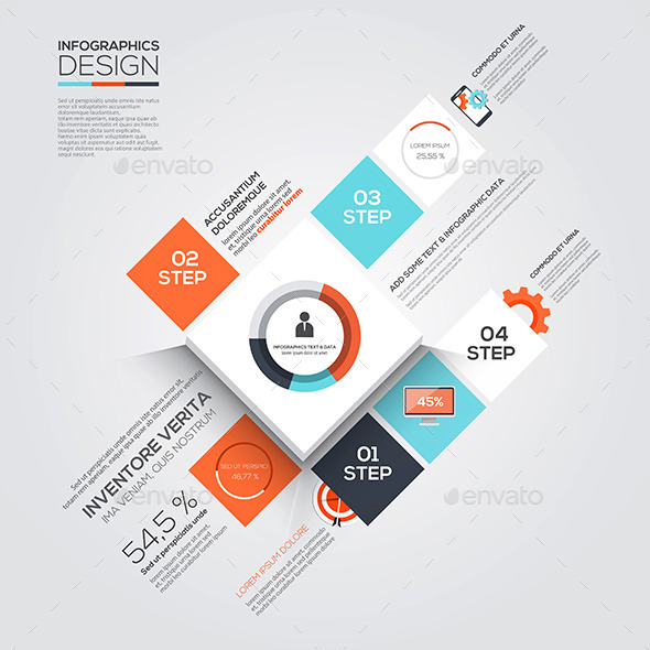 GraphicRiver Modern Design Minimal Infographic Template 10517639