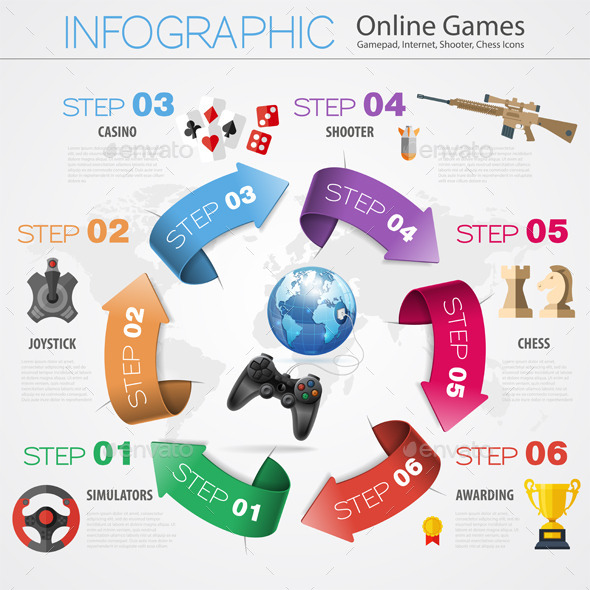 GraphicRiver Online Games Infographics 10567234
