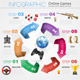 Online Games Infographics - GraphicRiver Item for Sale