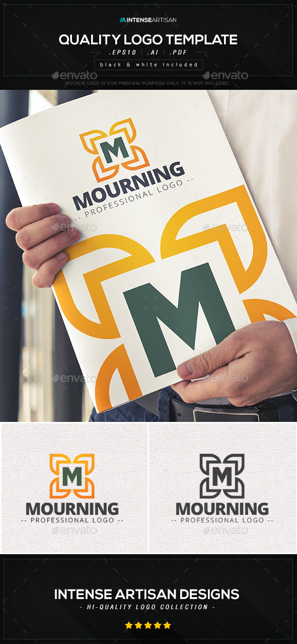 GraphicRiver Mourning Logo Template 10567604