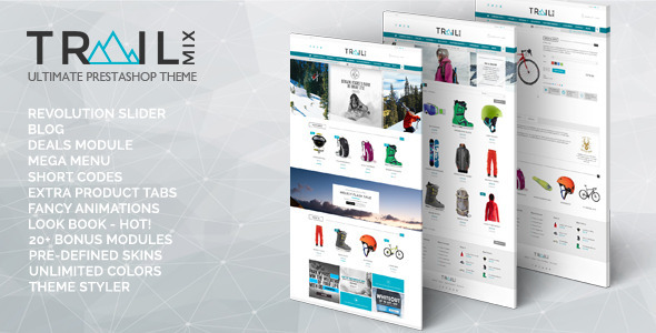 ThemeForest TrailMix Multi Purpose Responsive Prestashop Theme 10463579