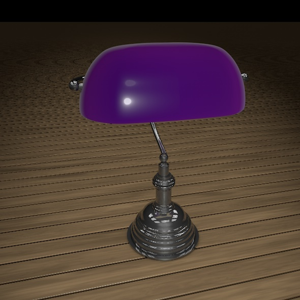 Desk Lamp Purple - 3DOcean Item for Sale