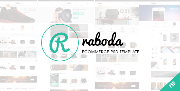 Download RABODA - ECommerce PSD Template PSD Templates Free