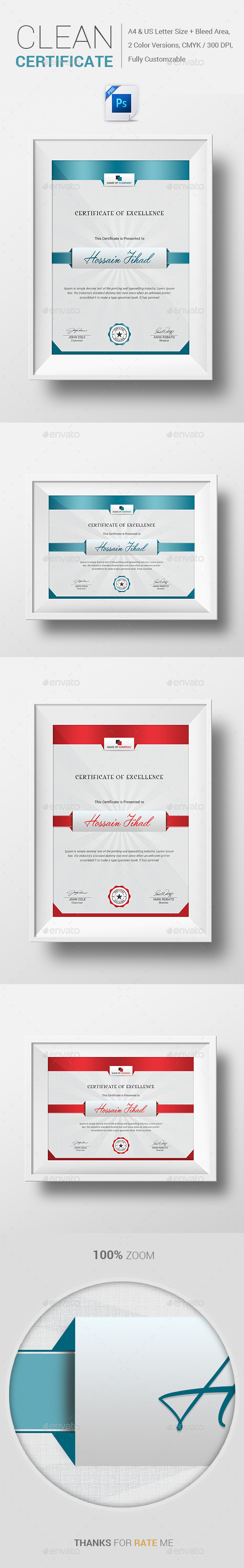 GraphicRiver Clean Certificate 10569000