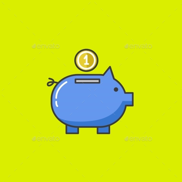 GraphicRiver Piggy Bank Vector Icon 10569076