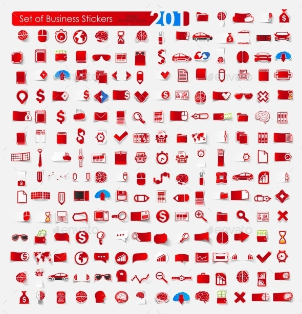 GraphicRiver Set of Business Stickers 10569702