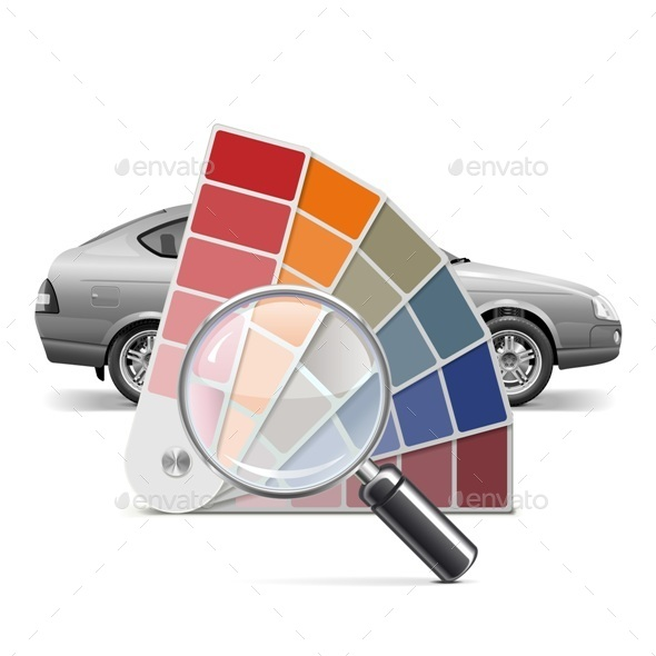 Vector Color Palette for Car