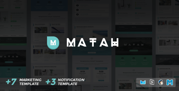 ThemeForest Matah Responsive Email Set 10569882