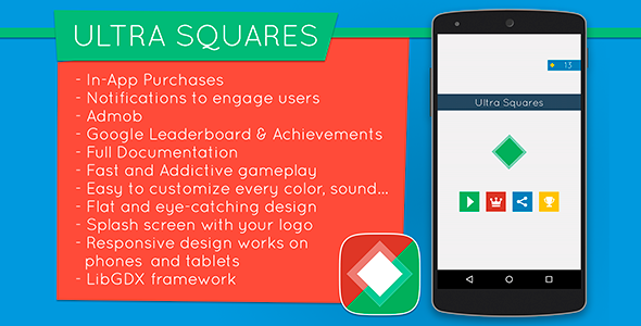 CodeCanyon Ultra Squares Highly Addictive Game Template 10509670