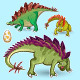 Stegosaurus Dinosaurs Sticker Collection Set - GraphicRiver Item for Sale