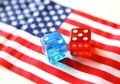bet on america. flag and dices concept - PhotoDune Item for Sale