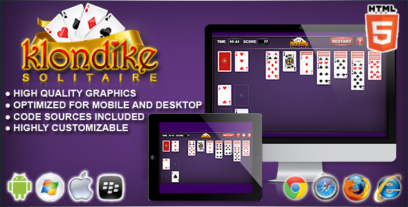 CodeCanyon Klondike HTML5 Solitaire Game 10570910
