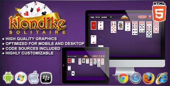 CodeCanyon Klondike HTML5 Solitaire Game 10570910