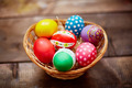 Basket with painted eggs - PhotoDune Item for Sale
