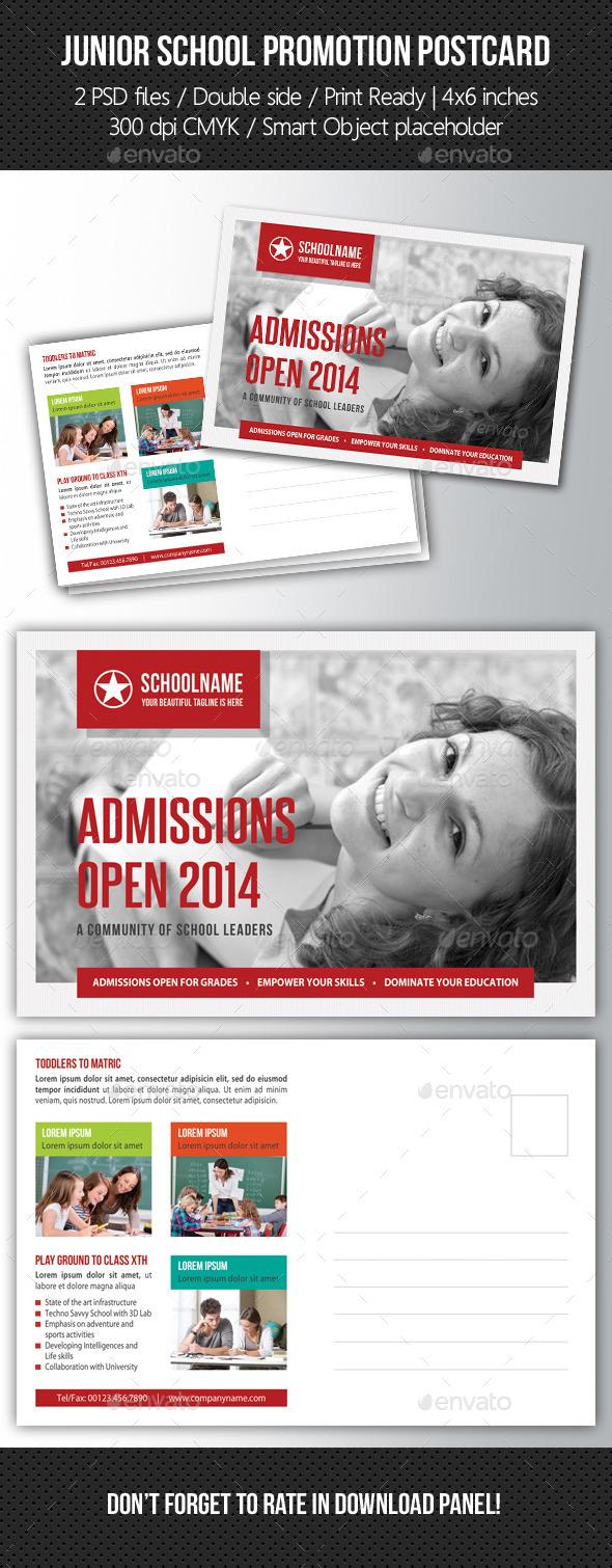 GraphicRiver Junior School Promotion Postcard 02 10571205