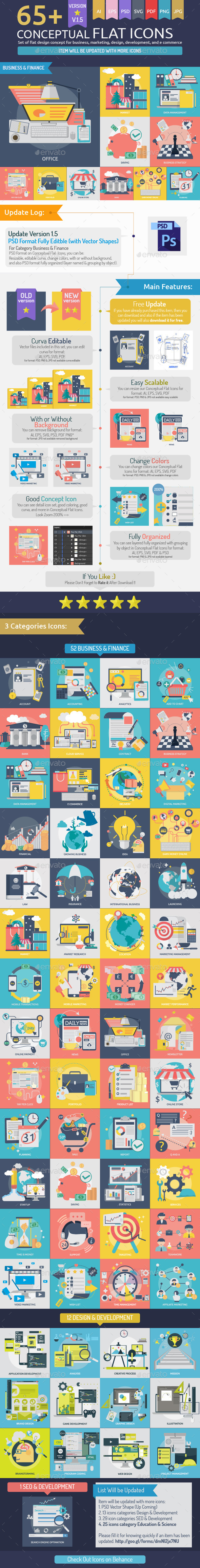 GraphicRiver Conceptual Flat Icons 10511361