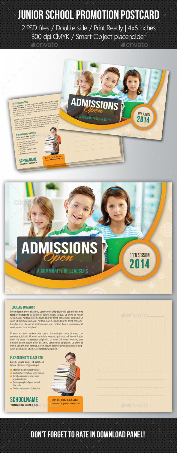GraphicRiver Junior School Promotion Postcard 03 10571427