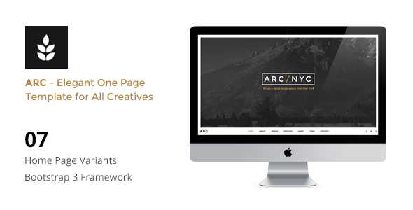 ThemeForest ARC Creative One Page HTML5 Template 10571453