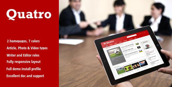 ThemeForest Quatro News & Magazine Drupal Theme 10571480