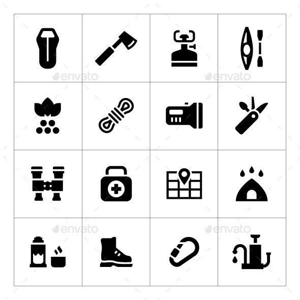 GraphicRiver Set Icons of Camping 10571493
