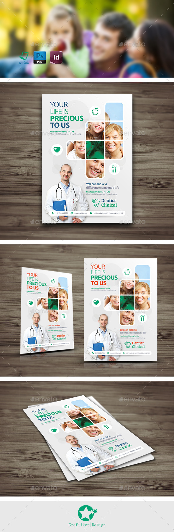 GraphicRiver Dentist Flyer Templates 10571610