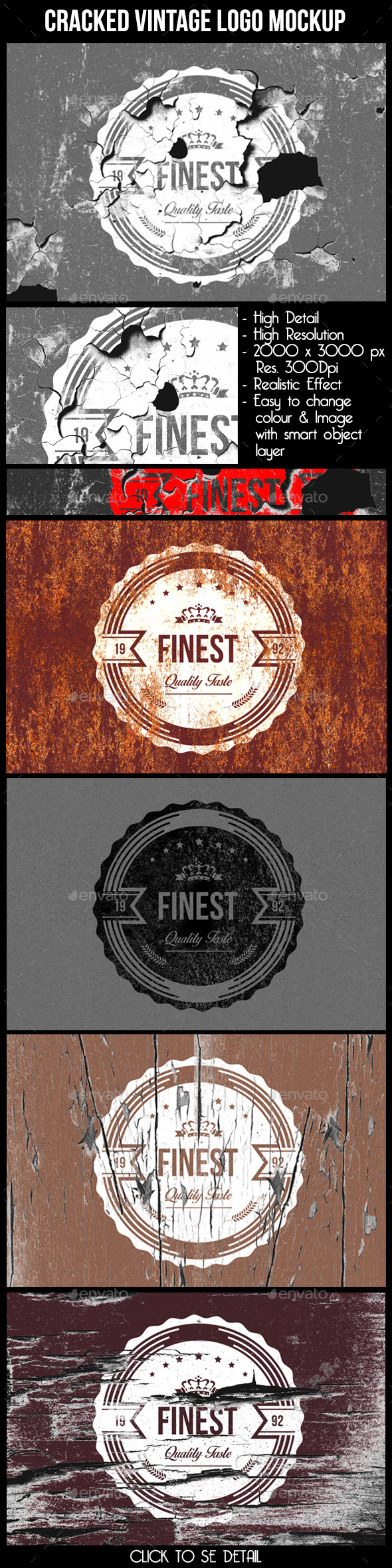 GraphicRiver Cracked Vintage Logo Mock Up 10530756