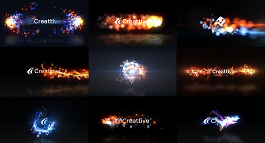 Quick Logo Sting Pack 07-  Energetic Particles