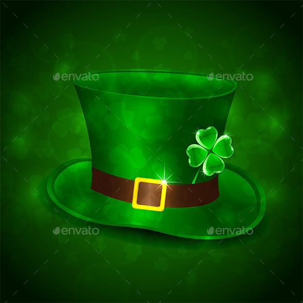 GraphicRiver Green Leprechauns Hat 10573092