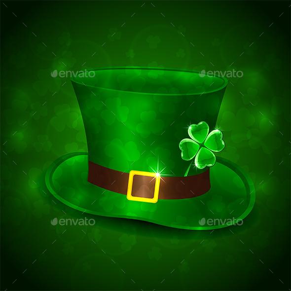 GraphicRiver Green Leprechauns Hat 10573092